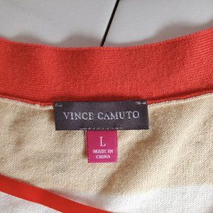 Vince Camuto Sweaters - Vince Camuto Khaki & White  Striped Cardigan -NWOT